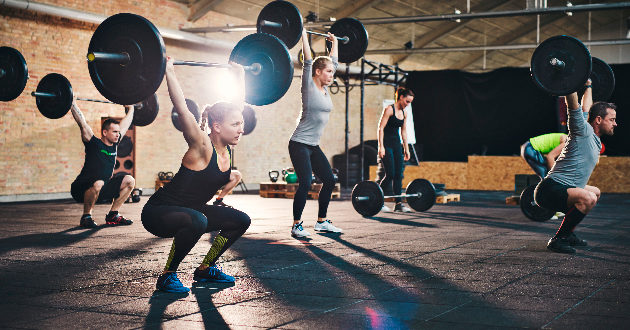 Crossfit popular exercises