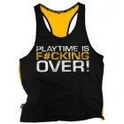 "Dedicated Yellow Stringer Shirt ""Playtime is F#cking Over"""