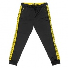 Vintage Track Pants Black and Yellow
