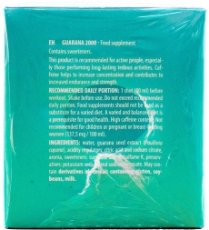 Activlab Guarana 2000 ingredients