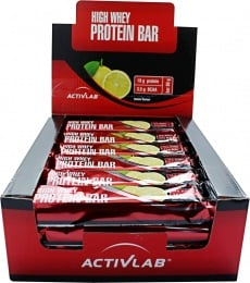 Activlab High Whey Protein Bar 24 x 80g open