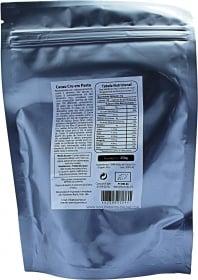 Biosamara Cocoa paste nutrition label