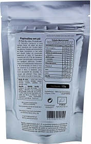 Biosamara Spirulina powder nutrition label