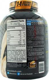 MuscleTech Nitro-tech Casein Gold nutrition label