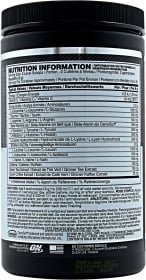 Optimum Nutrition Amino Energy nutrition label