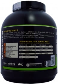 Optimum Nutrition Serious Mass ingredients