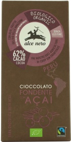 Alce Nero Black Chocolate with Acai