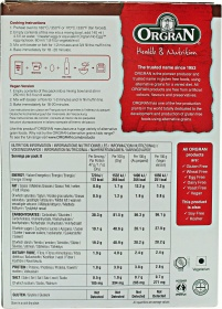 Orgran Chocolate Muffin Mix nutrition label