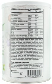Quamtrax Collagen nutrition label