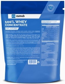 Zumub 100% Concentrado de Whey Sabor Neutro ingredientes