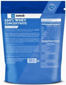 Zumub 100% Whey Concentrada Sem Sabor ingredientes