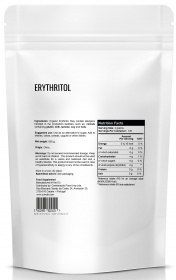 Zumub Erythritol nutrition label