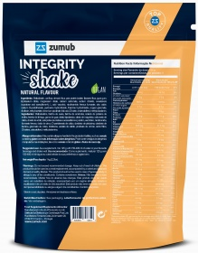 Zumub Integrity Shake nutrition label