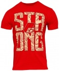 T-Shirt STRONG Red and beige