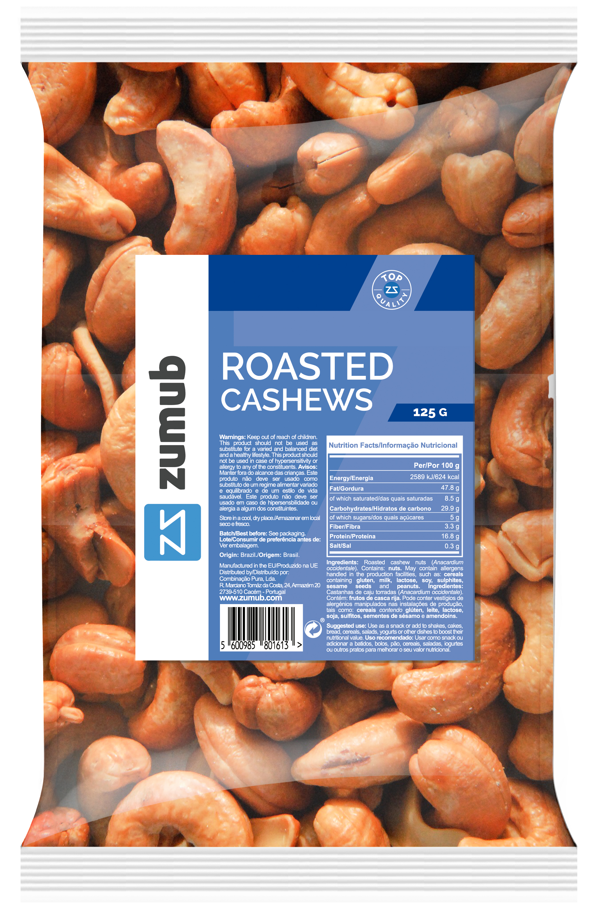 Roasted Cashews 125g