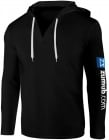 Black hooded shirt - v-neck
