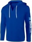 Blue hooded shirt - V-neck